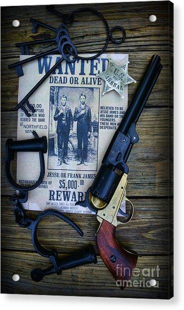 Cowboy - Law And Order Acrylic Print