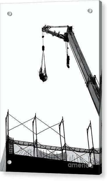 Crane And Construction Site Acrylic Print