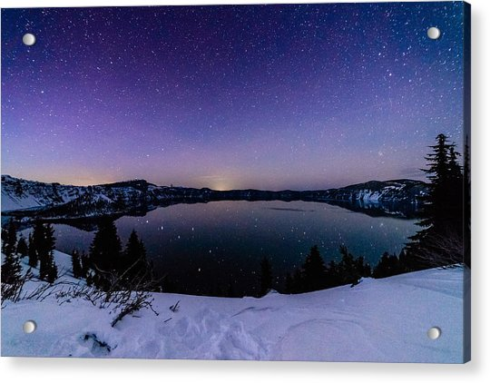 Crater Lake Reflections Acrylic Print