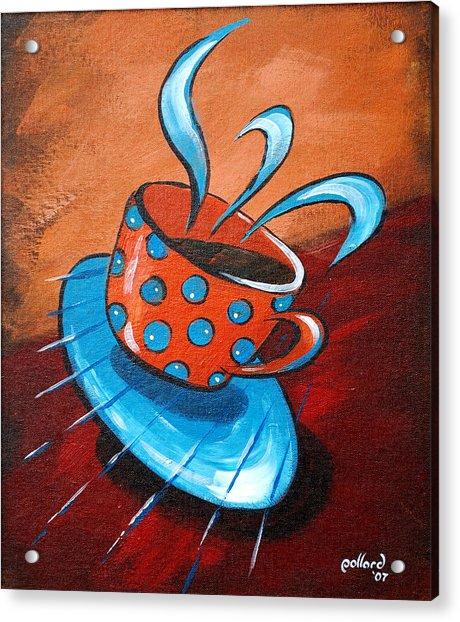 Crazy Coffee Acrylic Print