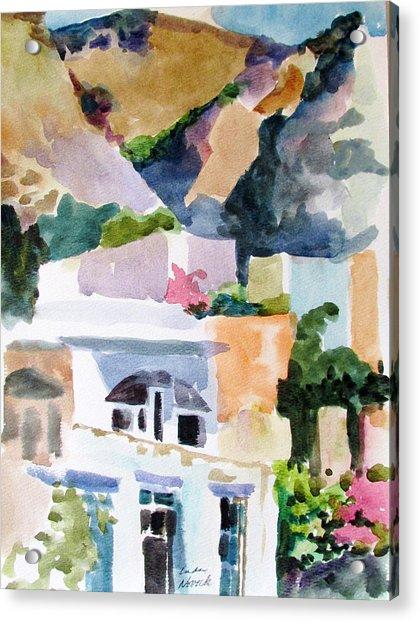 Crete Mountainside Acrylic Print
