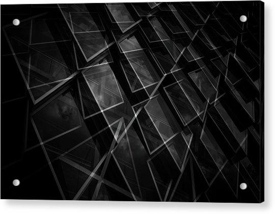 Crossing Windows Acrylic Print by Jeroen Van De