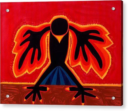 Crow Rising Original Painting Acrylic Print