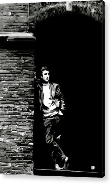 Cry For A Shadow John Lennon Acrylic Print by Iconic Images Art Gallery David Pucciarelli