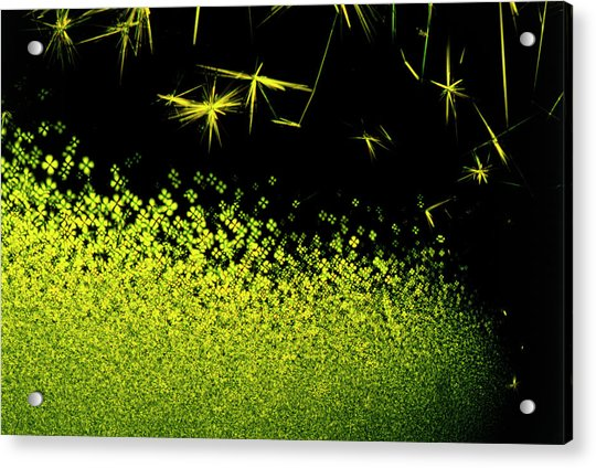 Crystals Of Antibiotic Tetracycline Acrylic Print by David Parker