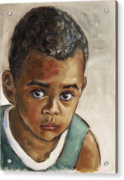 Curious Little Boy Acrylic Print