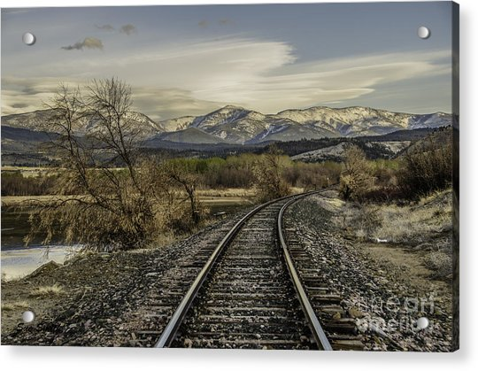 Curve In The Tracks Acrylic Print