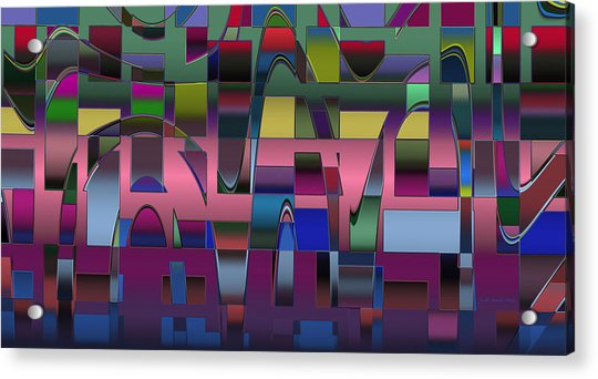 Curves And Trapezoids  Acrylic Print