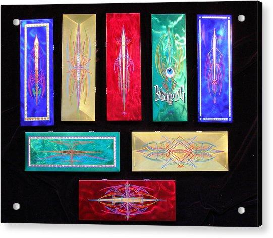 Custom Hand Painted Brush Boxes Acrylic Print