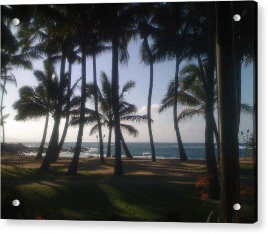 Dancing Palm Trees Acrylic Print