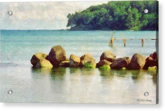 Danish Coast On The Rocks Acrylic Print