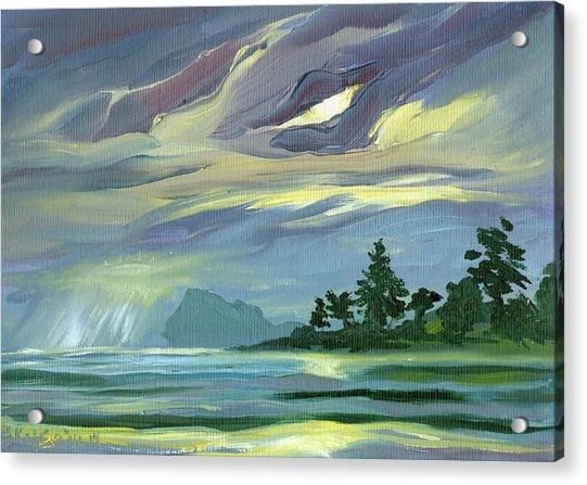 Dark Sunrise Skyscape Acrylic Print