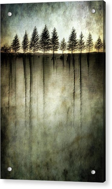 Dark Water Stands Over Me Acrylic Print