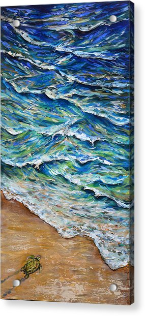 Dash To The Tide Acrylic Print