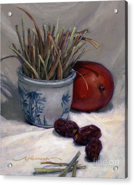 Dates Lemongrass And Mango Acrylic Print