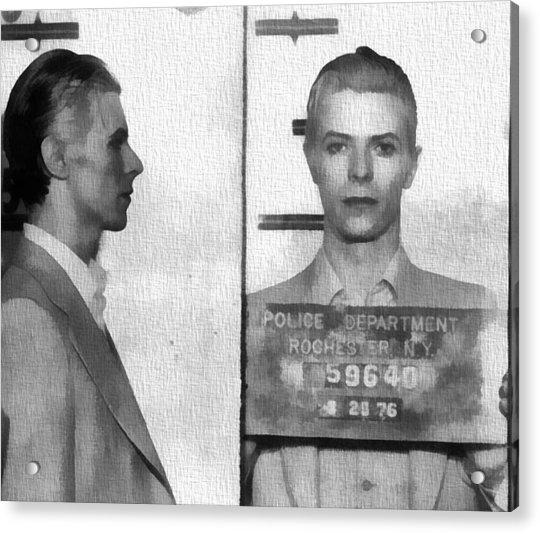 David Bowie Mug Shot Acrylic Print