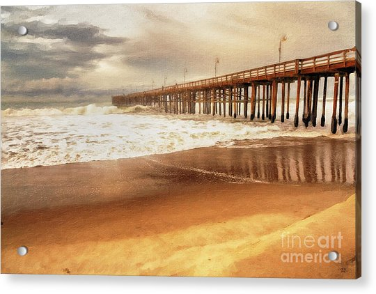 Day At The Pier Large Canvas Art, Canvas Print, Large Art, Large Wall Decor, Home Decor, Photograph Acrylic Print