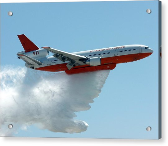 Dc10 Aerial Tanker Dropping Water Acrylic Print