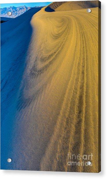 Death Valley Sunset Dune Wind Spiral Acrylic Print
