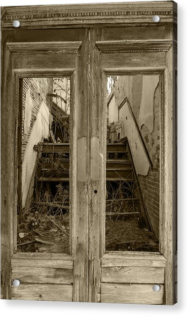 Decaying History In Black And White Acrylic Print