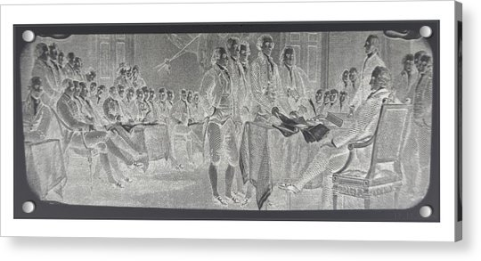 Declaration Of Independence In Negative Acrylic Print
