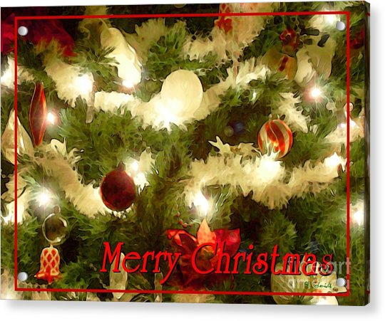Decorated Tree Christmas Card Acrylic Print