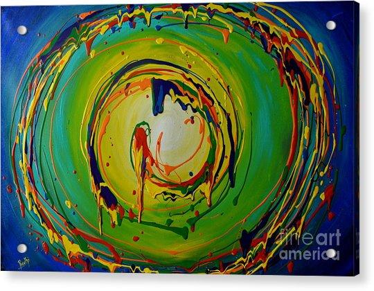 Deep Sea Swirls Acrylic Print