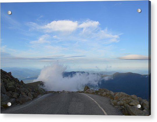 Descending Into The Clouds Acrylic Print