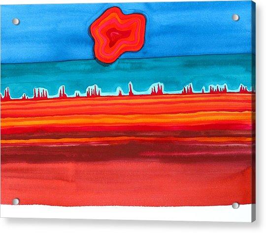 Desert Cities Original Painting Sold Acrylic Print