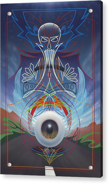 Destiny Meets Eternity In The Oncoming Lane Acrylic Print