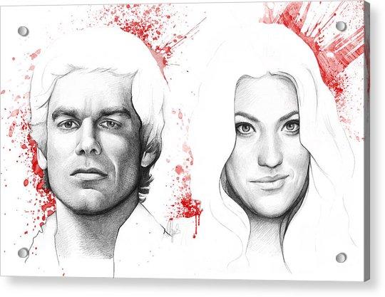 Dexter And Debra Morgan Acrylic Print