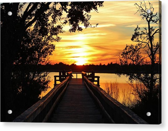 Acrylic Print featuring the photograph Disappearing Sun  by Cynthia Guinn