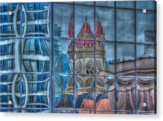 Distorted Portland Acrylic Print