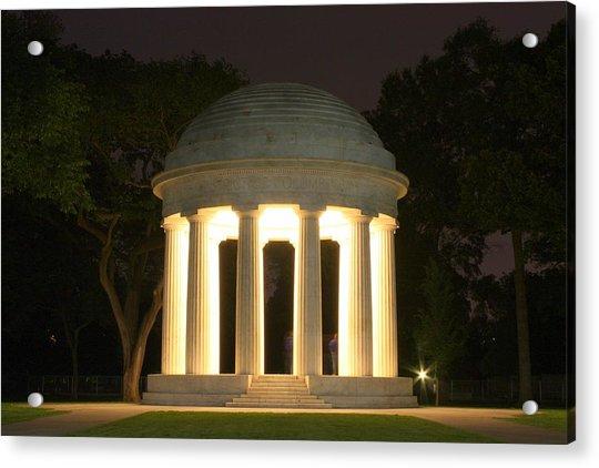 District Of Columbia World War I Memorial At Night Acrylic Print