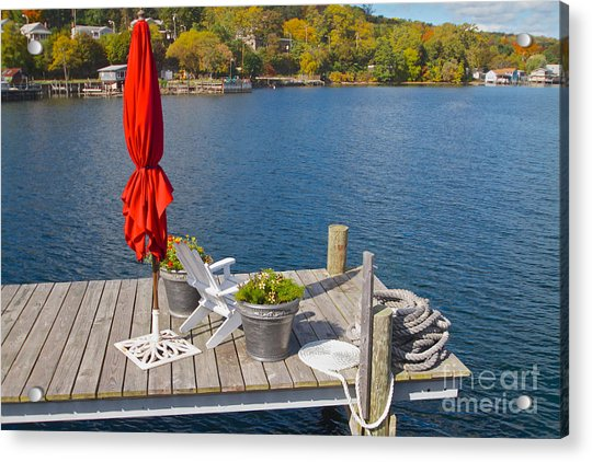 Dock By The Bay Acrylic Print