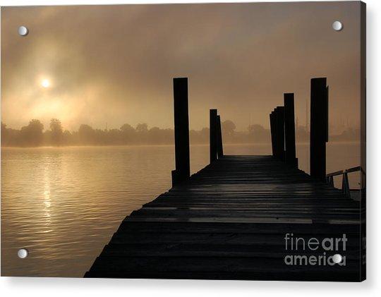 Dockside And A Good Morning Acrylic Print