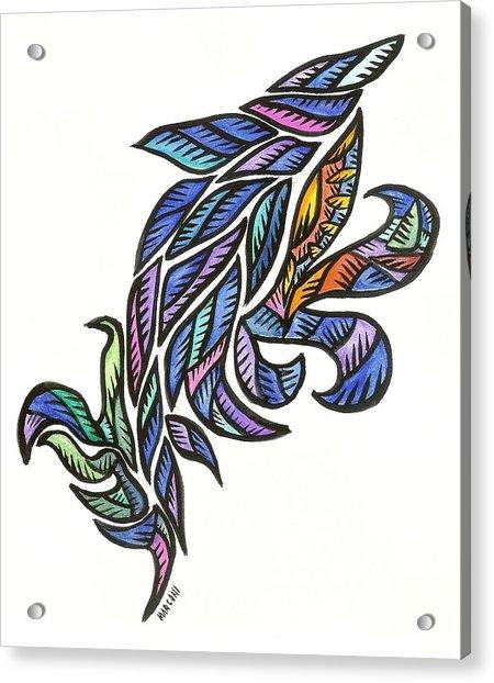 Dolphin Jump Acrylic Print