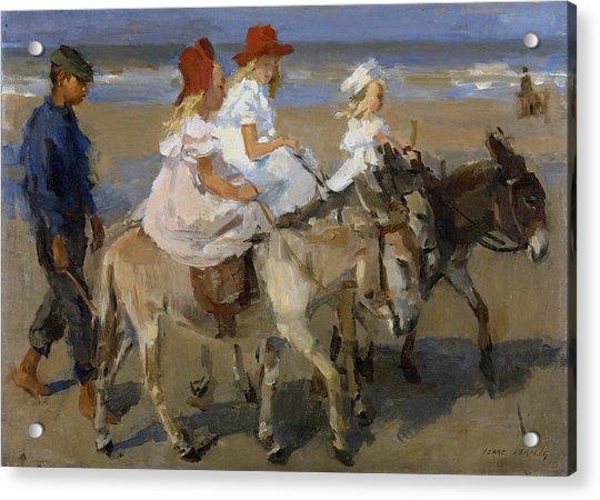 Donkey Rides Along The Beach Acrylic Print