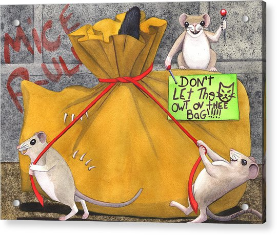 Dont Let The Cat Out Of The Bag Acrylic Print by Catherine G McElroy