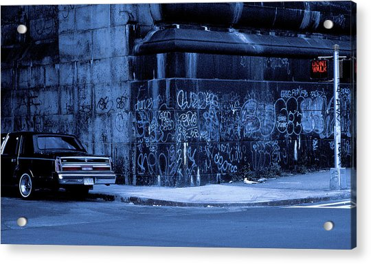 Dont Walk (from The Series new York Blues) Acrylic Print