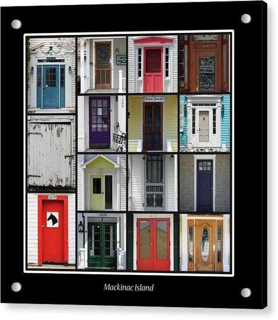 Doors Of Mackinac Island Acrylic Print