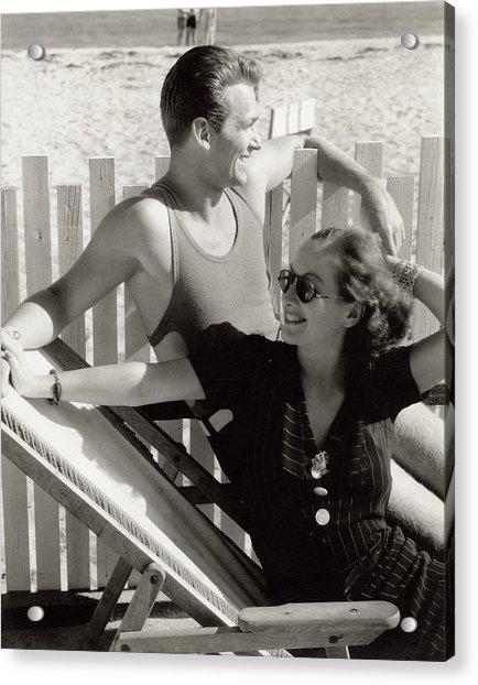 Douglas Fairbanks Jr. With Joan Crawford Acrylic Print