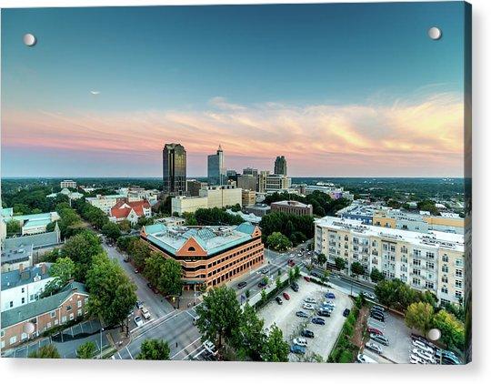 Downtown Raleigh Twilight, North Acrylic Print