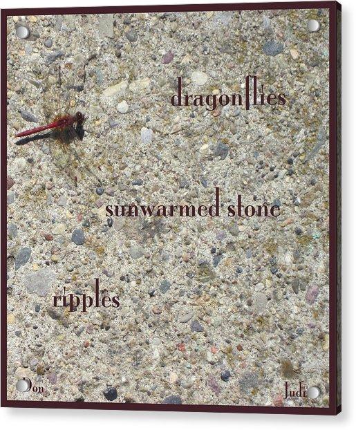 Dragonflies Haiga Acrylic Print