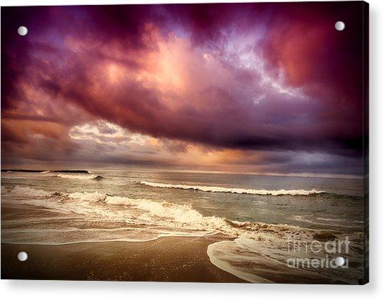 Dramatic Beach Acrylic Print