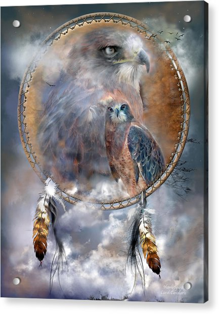 Dream Catcher - Hawk Spirit Acrylic Print