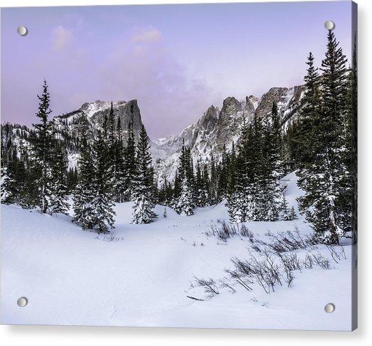 Dream Lake Sunrise Acrylic Print by Robert Yone