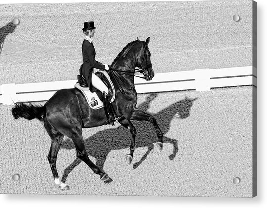 Acrylic Print featuring the photograph Dressage Une Noir by Alice Gipson