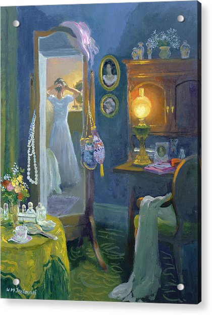 Dressing Room Victorian Style Oil On Board Acrylic Print