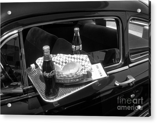 Drive-in Coke And Burgers Acrylic Print